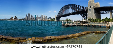 Australia Sydney Circular quay City skyscrapers skyline panorama view summer sunny day