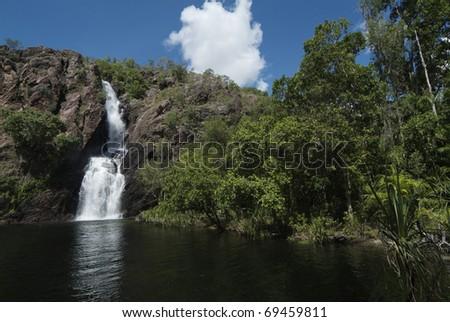 Australia, Wangi Falls in Litchfield Nationalpark in Northern Territory