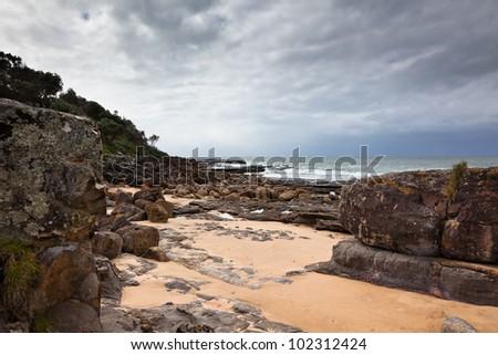 Australian beach scene.