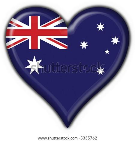 Australian button flag heart shape