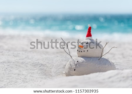 Australian Christmas Sandman on a beautiful white sand beach