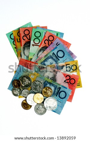 Australian Currency  notes and coins