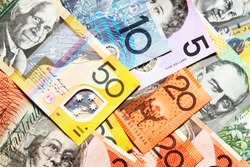 Australian Dollar banknote / Australia was the first country in the world to have a complete system of banknotes made from polymer
