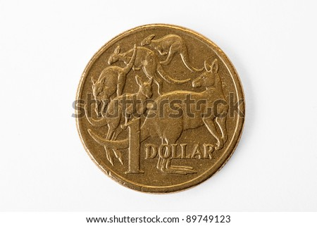 Australian Dollar close up with Clipping path
