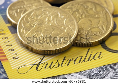 Old Australian Coins Australian Dollar Coins on a