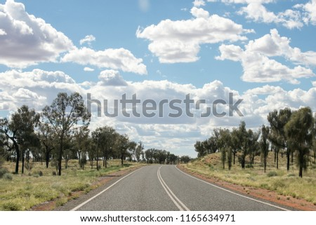 Australian endless roads #1165634971