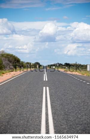 Australian endless roads #1165634974