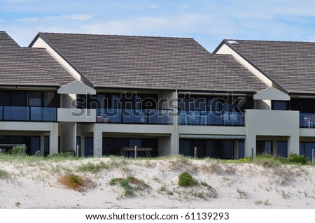 Australian family house. House on the beach