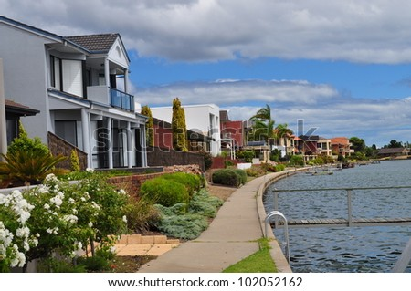 Australian family house. House on the lake