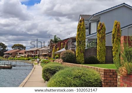Australian family house on the lake