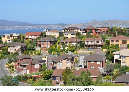 Australian family houses on the hills