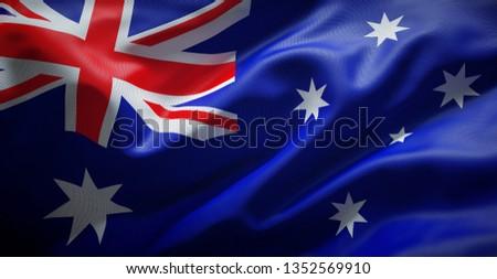 Australian flag. Australia. #1352569910