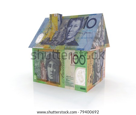 australian home with banknotes 3d illustration