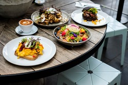 Australian lunch style at The Kettle black cafe