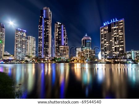 australian modern city at night (gold coast) queensland #69544540