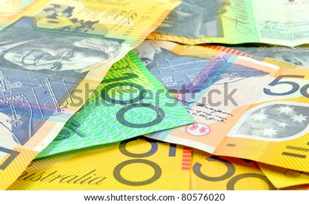 australian money closeup as a background