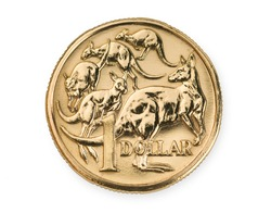 Australian one dollar coin currency