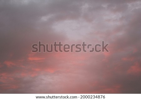 Australian Orange and Grey Summer Sunset, peach colored clouds, pink and grey clouds, Textured cloud background,