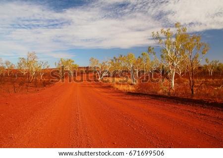 Australian outback road #671699506