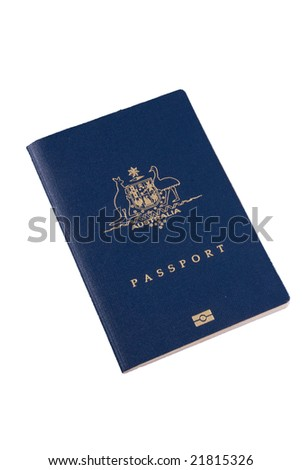 Australian Passport - isolated image