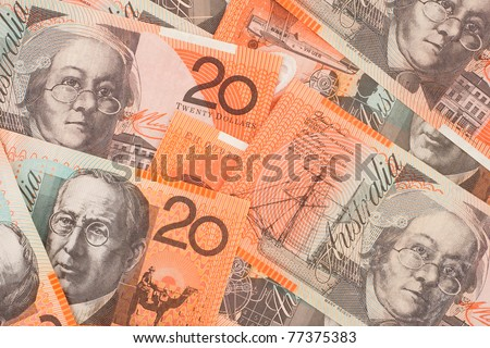 Australian Twenty Dollar ($20) Banknotes Background
