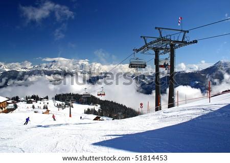austria alpen in winter
