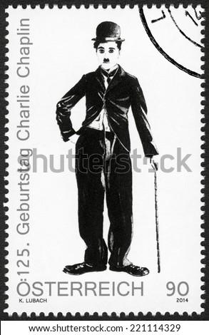 austria   circa 2014  a stamp...