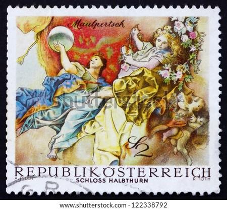 austria   circa 1968  a stamp...