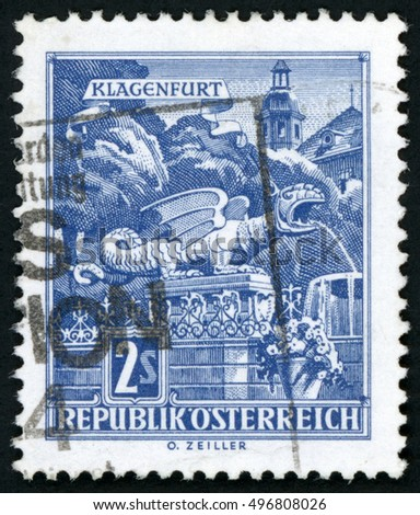 austria   circa 1968  stamp...