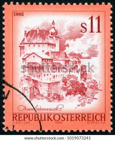 austria   circa 1976  stamp...