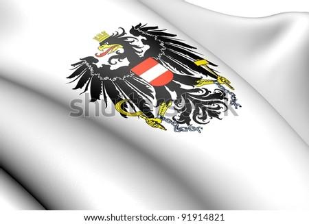 Austria coat of arms. Close up.