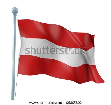 Austria Flag Detail Render