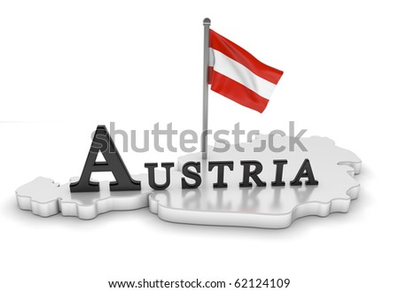 Austria Tribute/Digitally rendered scene with flag and typography