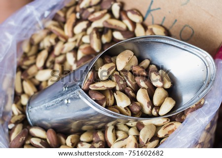 Shutterstock Authentic brazil nuts, a typical regional product for sale in famous Ver-o-Peso public market. A tourist and cultural center. Healthy nutrition concept