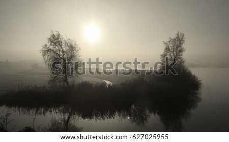 Authentic dutch landscape on a beautiful day #627025955