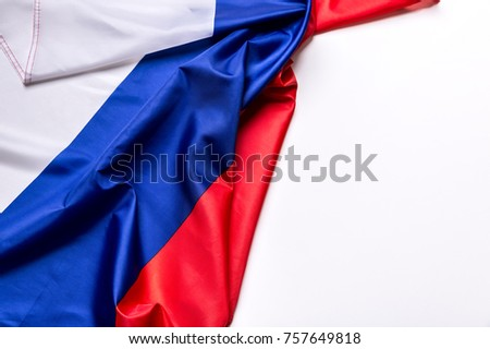 Authentic flag of Russia #757649818