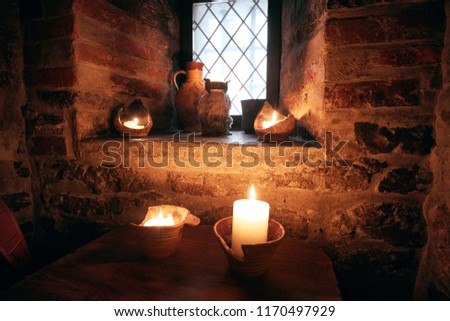 authentic medieval tavern. interior