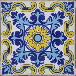 Authentic Mediterranean Ceramic Tile Square