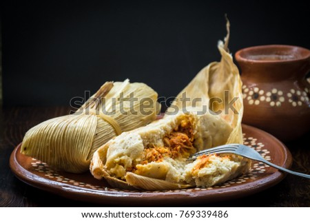 Shutterstock Authentic Mexican tamales filed corn dough dish