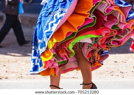 Authentic peruvian dance #705213280