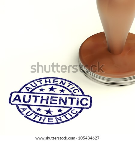 Authentic Stamp Showing Real Certified Product