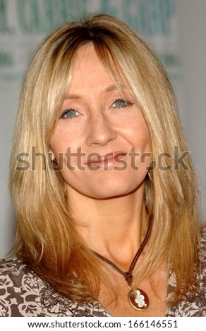 Author JK Rowling at the press conference for An Evening with Harry, Carrie and Garp author book readings to benefit Doctors Without Borders, Radio City Music Hall, New York, August 01, 2006
