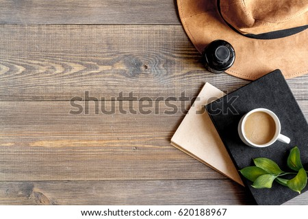 author office in writer concept on desk background top view mock up #620188967