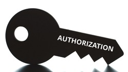 AUTHORIZATION text on the key icon