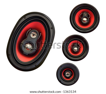 Auto audio system loud speakers for car isolated