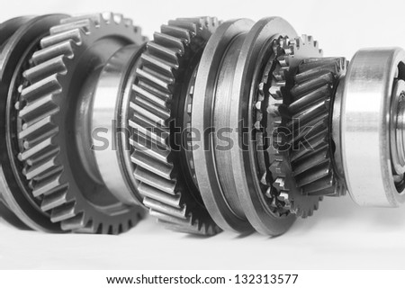 auto gear on isolated background