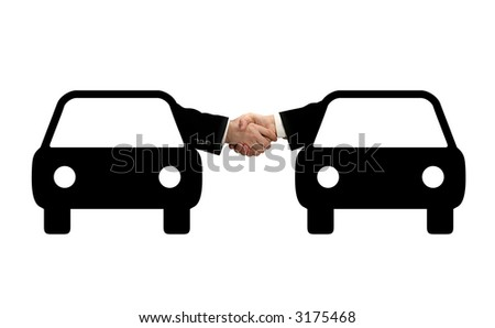 Auto Insurance - Business handshake