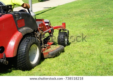 Auto Lawn Mower. Lawn Care. Riding Mower. Grass #738518218