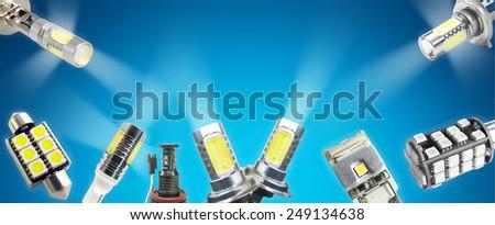 Auto led light banner