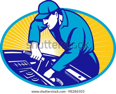 Auto Repair on Auto Mechanic Car Repair Retro Stock Photo 98286503   Shutterstock